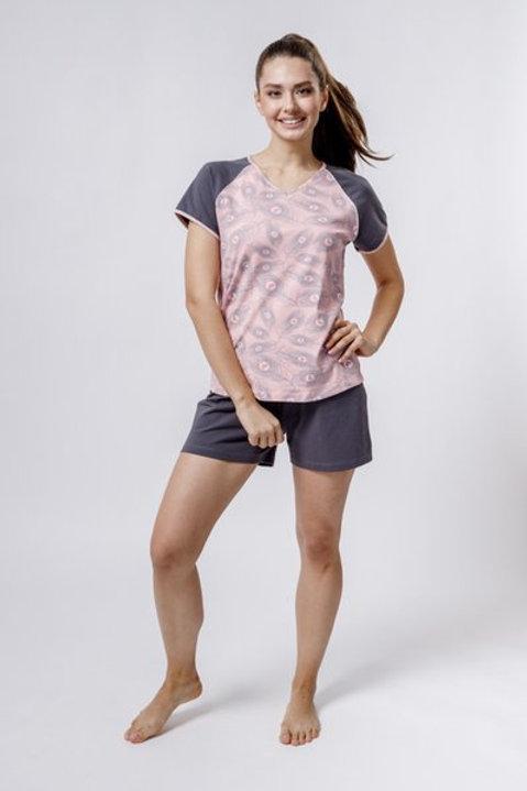 OXO-0858 Комплект футболка/шорты жен. мод. 3