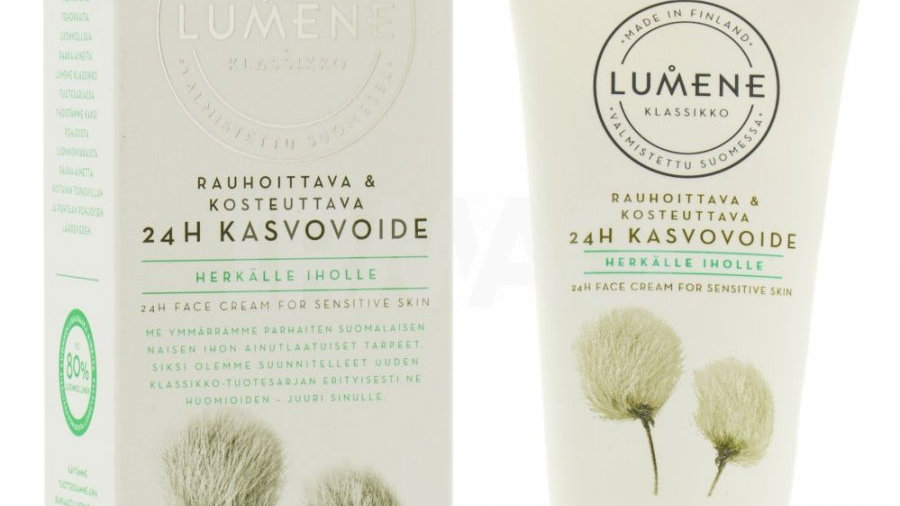 LUMENE KLASSIKKO Успокаивающий увлажняющий крем 24 часа для чувствительной кожи,