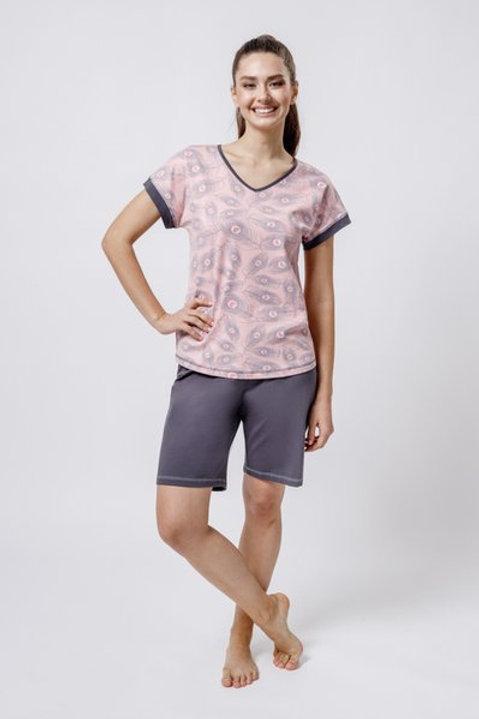 OXO-0847 Комплект футболка/шорты жен. мод. 4