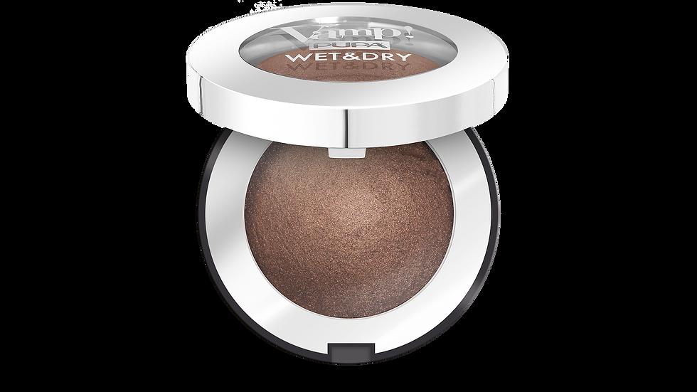 PUPA Запеченные тени с сияющим финишем VAMP! WET&DRY тон 105 Теплый коричневый