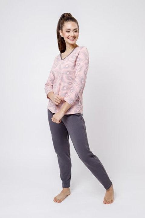 OXO-0820 Комплект лонгслив/брюки жен. мод. 3