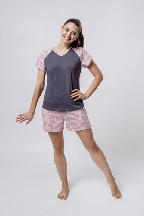 OXO-0857 Комплект футболка/шорты жен. мод. 3