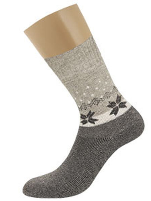 D9AP12 носки жен. снежинки с горошком (плюш, зима)