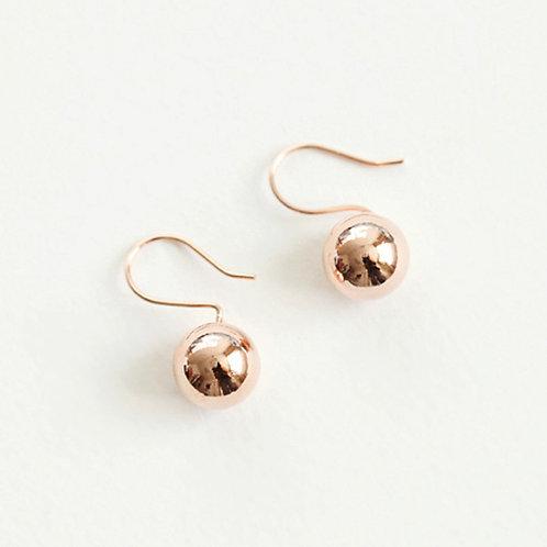 Boyfriend Rose Gold Ball Earrings