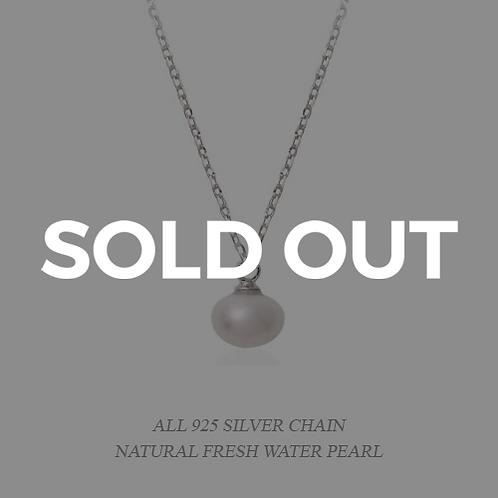 Elegant White Pearl Necklace
