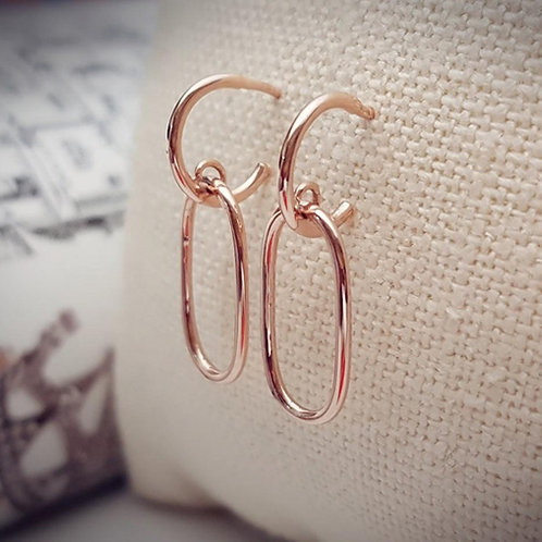 [Rose Gold]Boyfriend Earrings