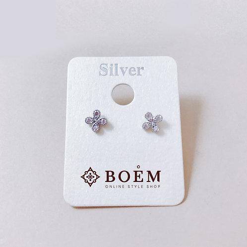 [White]Mini Daisy Earrings