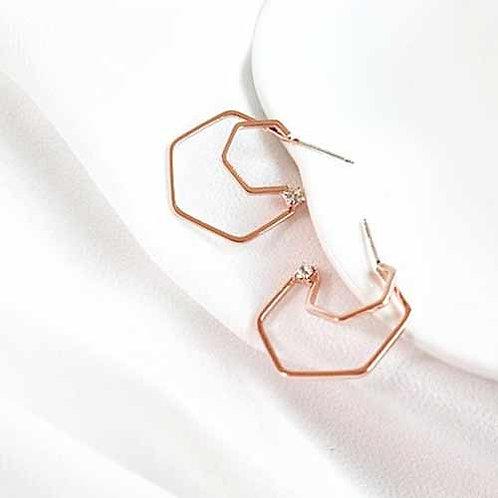Liana Hexagon Hoop Earrings
