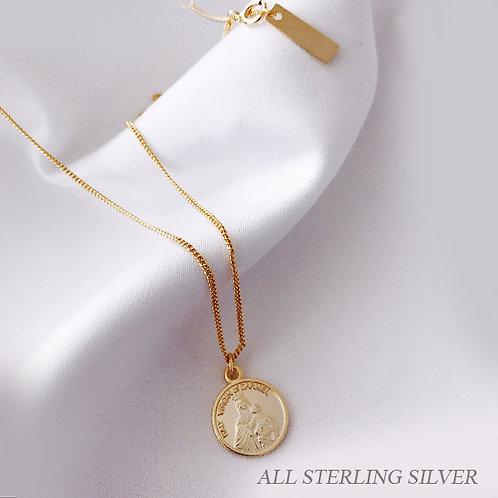 Coin 925 Silver Necklace