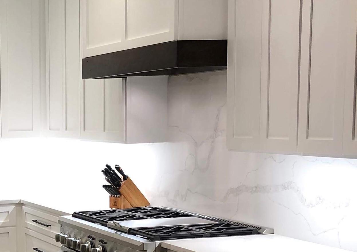 Modern White Marble Kitchen