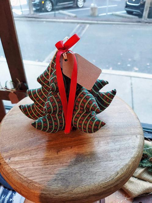 Vintage handmade plush Christmas tree