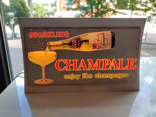 Vintage  1960's Sparkling Champale lighted & blinking beer sign