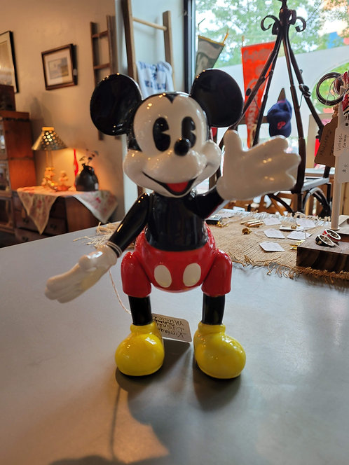 Vintage Schmid Mickey Mouse posable music figurine