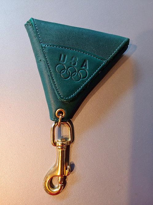 Vintage Coach US Olympics leather keychain