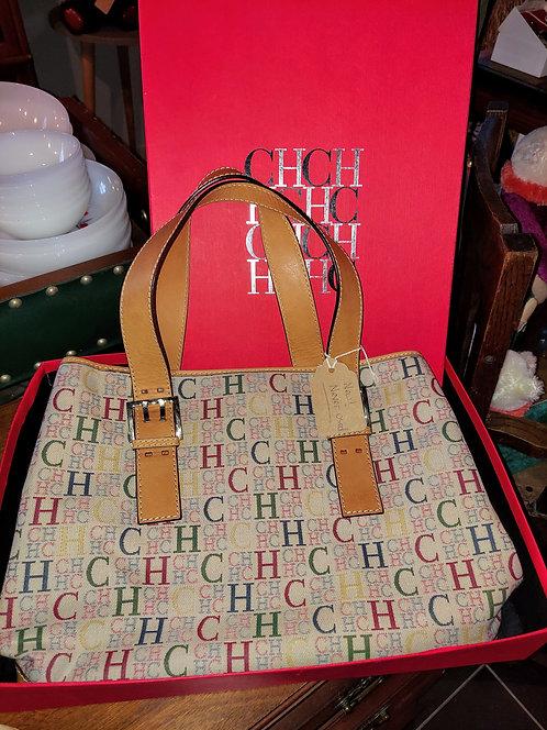 Caroline Herrera Monogram Lrg. Handbag- New w/ box & duster