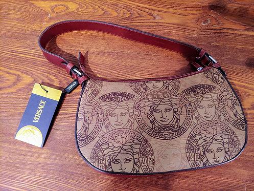 Vintage Versace Medusa jacquard handbag
