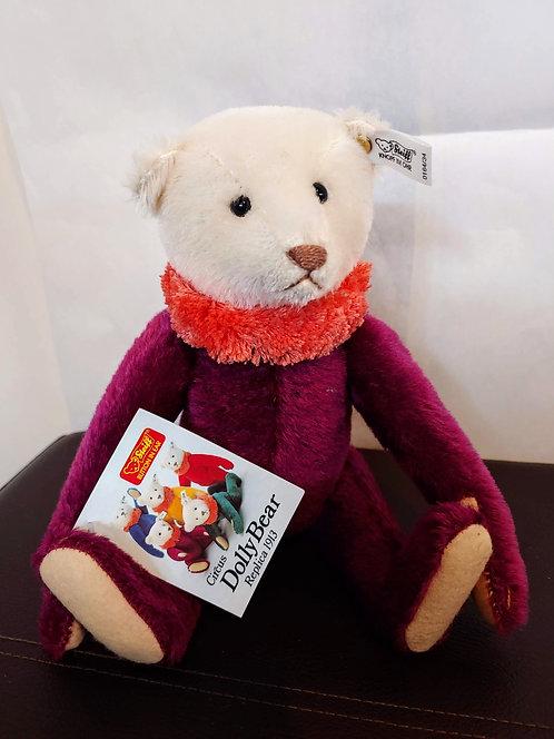Vintage Steiff Circus Dolly Bear -Purple