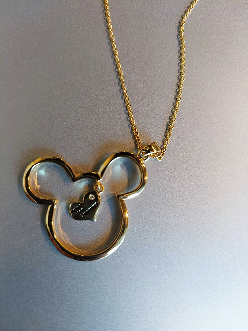 """Disney Mickey Mouse Pendant w/17"""" necklace"""