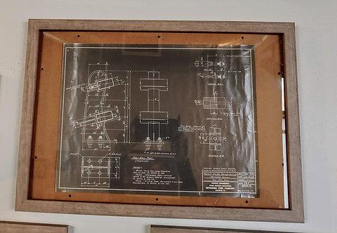 1964 Bethlehem Steel-Bridge railing proposed design blueprint.