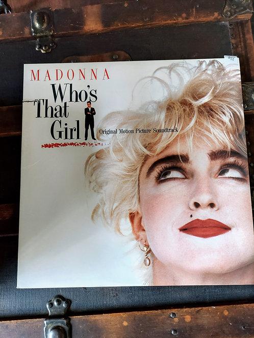 1987 MADONNA Who's That Girl vinyl album