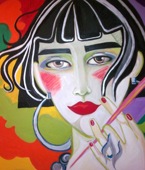 Smoking ladies 1 x 1 m vendue