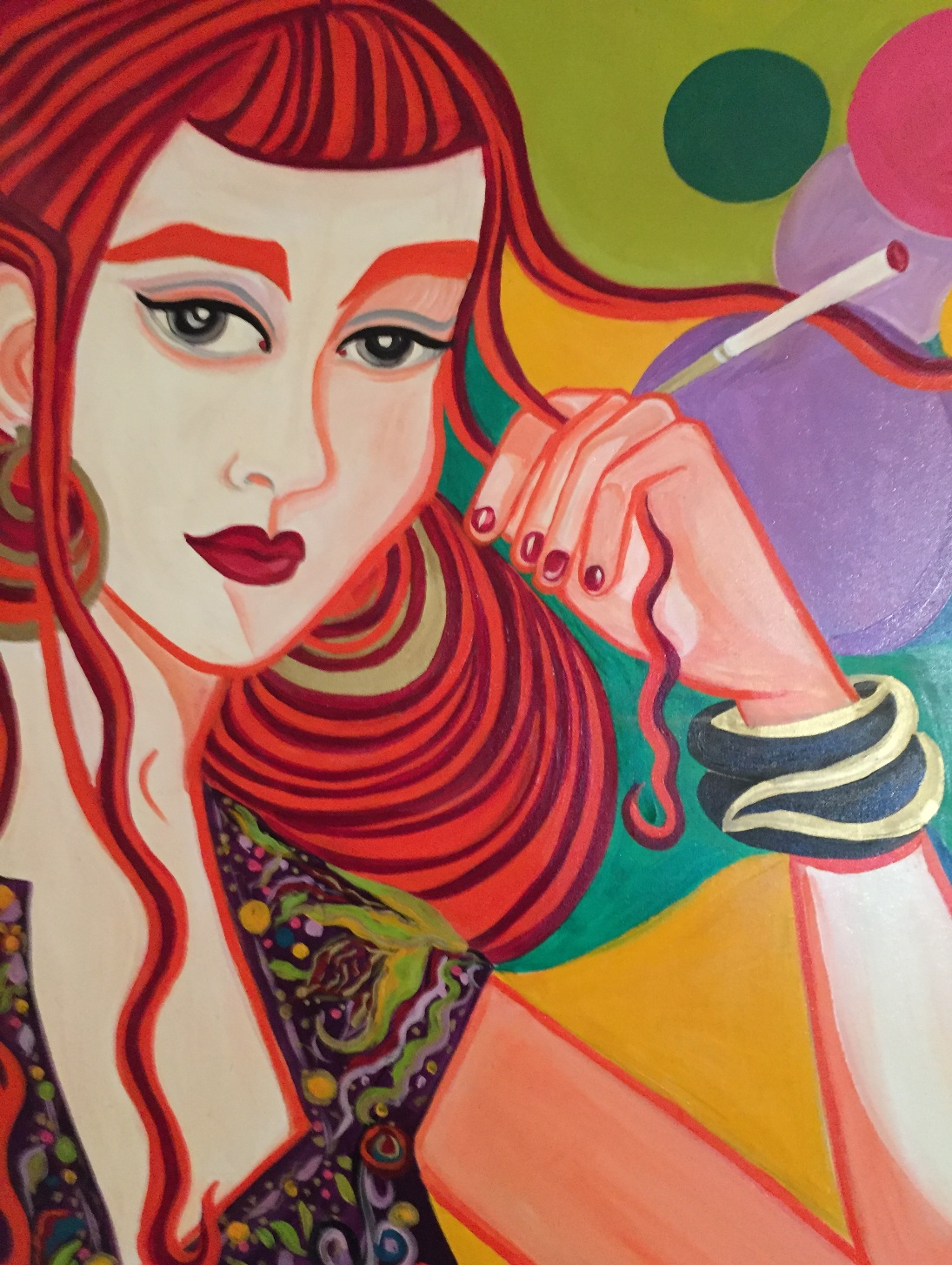 Smoking ladies 1 x 1 m