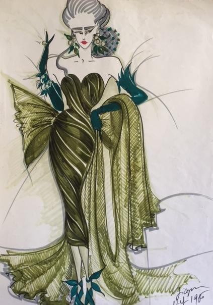 Les élégantes robe du soir NY 1986