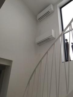 Mitsubishi duo luft installation i Mölle