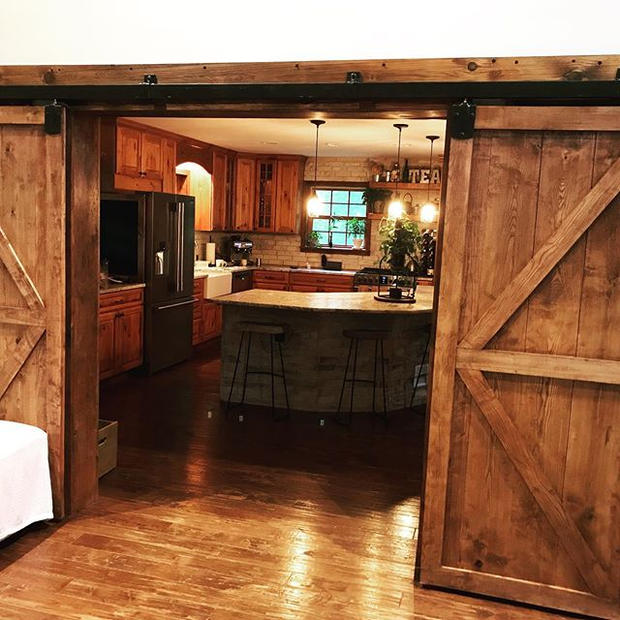 Barn doors made from licking county ash