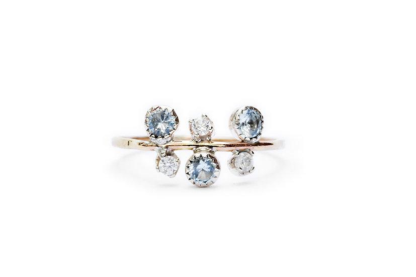 TRIPLE AQUAMARINE + DIAMONDS
