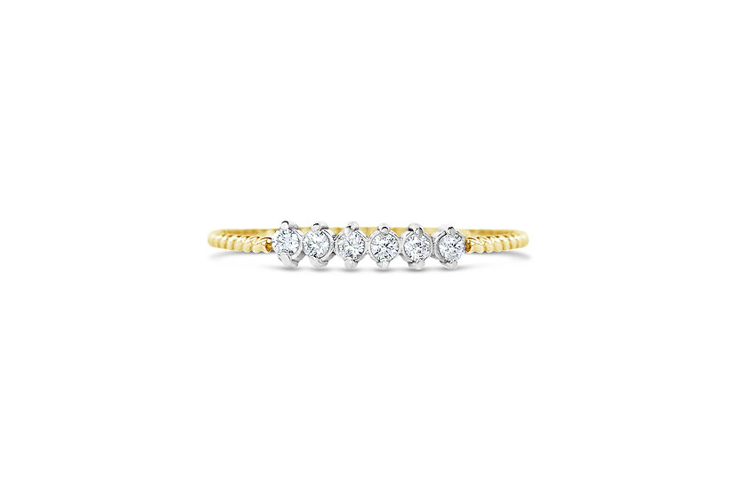 DIAMONDS +14K GOLD STACKING BANDS