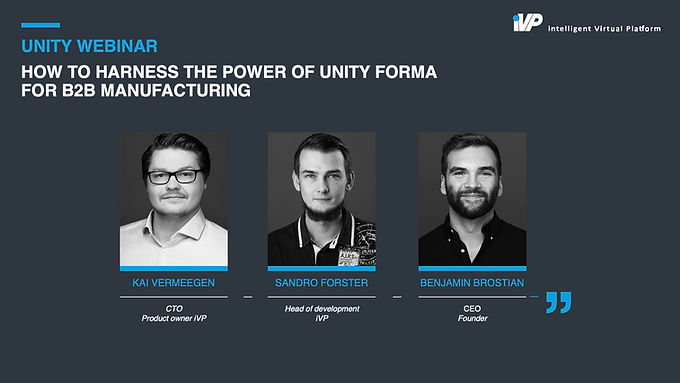 How to Harness the Power of Unity Forma for B2B Manufacturing