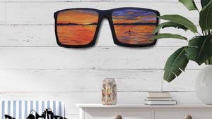 costa sunglasses sunset reflection painting