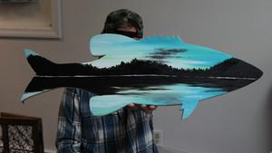 smallmouth dawn painting
