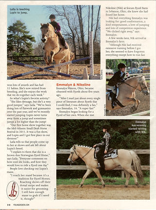 Young Rider Magazine - Fabulous Fjords