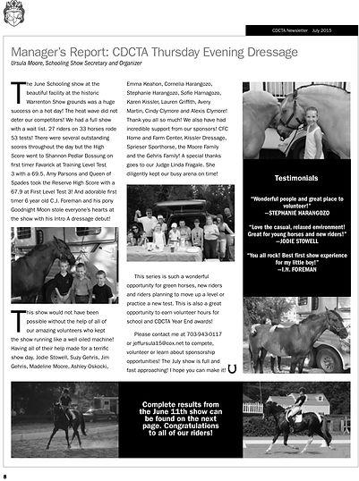 CDCTA February 2015 Newsletter