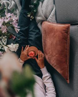 Pink Velvet Pillow Cover