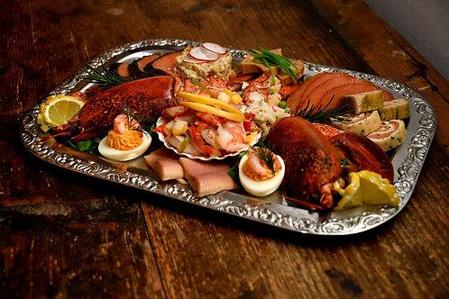 Silvester Platte von Krustentieren& Räucherfischen - für 2 oder 4 Personen