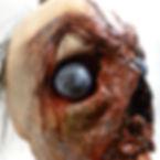 Impaled rotting head on a pike