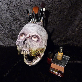Skull pencil holder/ organizer