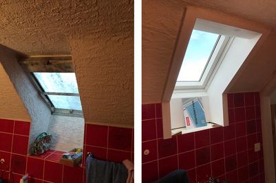Renovierung des Dachfensters
