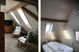 Dachbodenaufteilung