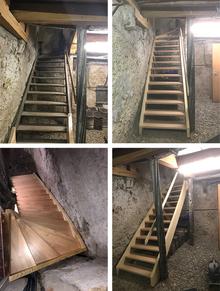 Basement stairs renovation