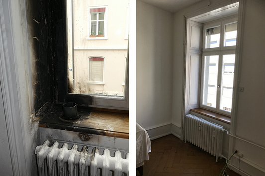 Reparatur eines Fensterrahmens