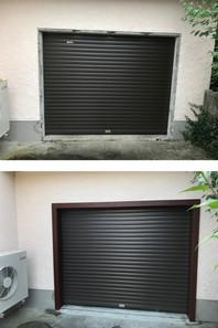 Encadrement de porte de garage
