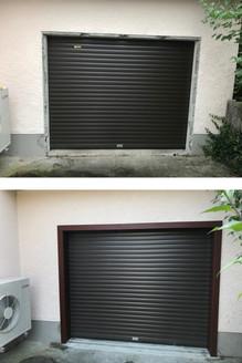 Garage door frame