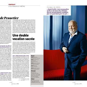Portrait de J.C.Pennetier paru dans l'hebdomadaire La Vie, 27 avril 2017