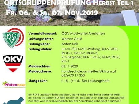 Ortsgruppenprüfungen November 2020