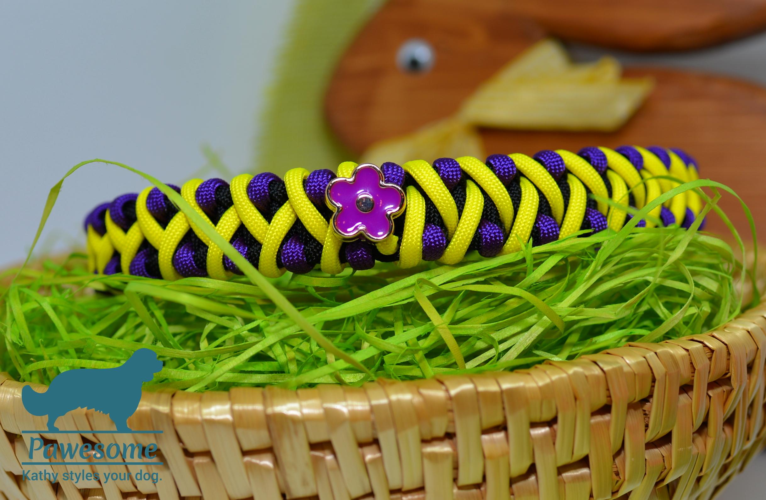 Halsband Fireball mit Blume