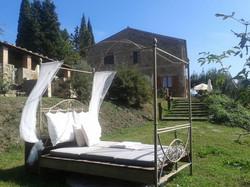 ein Bett im Olivenhain